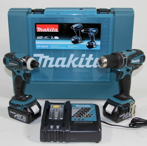 makita dk1862x 6tlg lxt 18v combi set bhp456 btd146 ebay. Black Bedroom Furniture Sets. Home Design Ideas