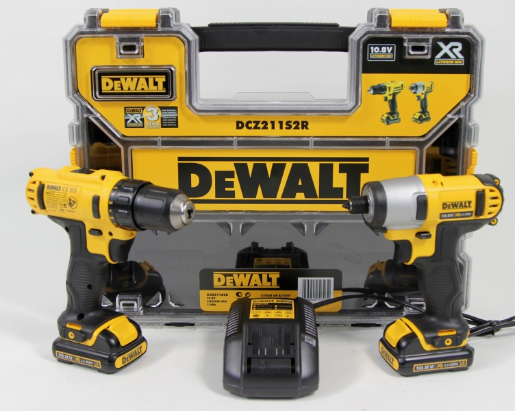 dewalt dcz211s2r akku twinpack 10 8v schlag und bohrschrauber set ebay. Black Bedroom Furniture Sets. Home Design Ideas