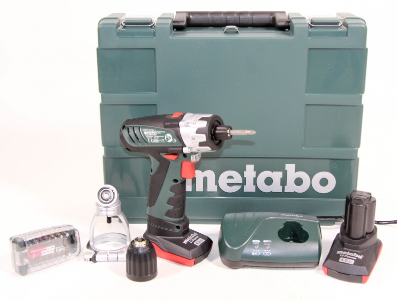 metabo 10 8 volt akku bohrschrauber powermaxx bs pro set 2 x 4 0 ah ebay. Black Bedroom Furniture Sets. Home Design Ideas